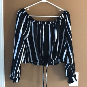 Kendall and Kylie off shoulder top